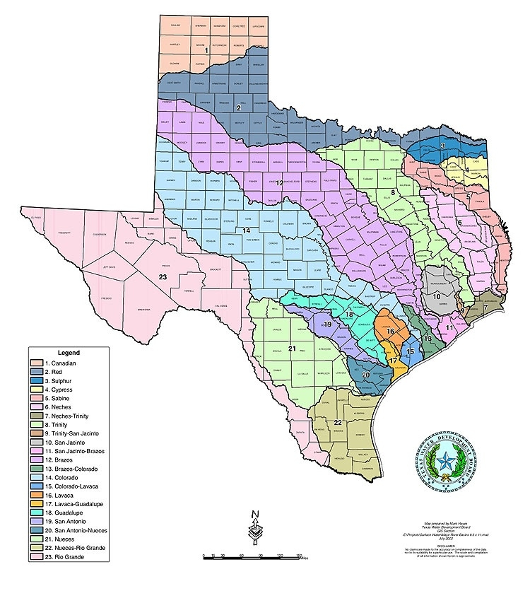 Major Texas River Basins